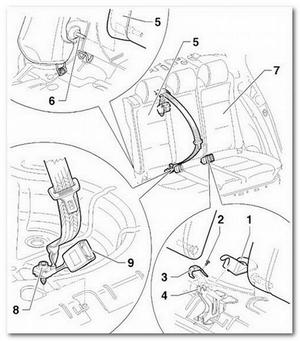 спинка заднего сидения VW Jetta
