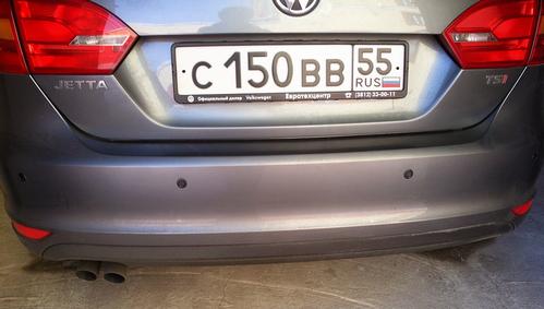 Задний парктроник на Volkswagen Jetta