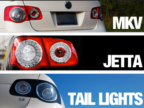 Задние фары на Volkswagen Jetta