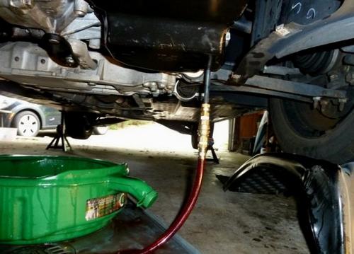 Замена масла в АКПП VW Jetta